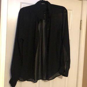 Suzy Shier Tops - black sheer top